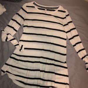 Striped Oversized Top